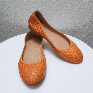 Frye woven leather tan flats sz. 8